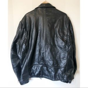 Vintage Jackets & Coats - VTG TOWNCRAFT leather motorcycle jacket